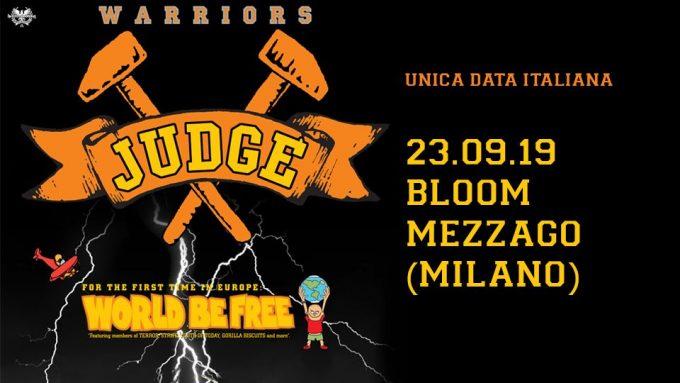 There will be quiet after the storm. Judge e World Be Free al Bloom di Mezzago (MI) il 23 settembre!